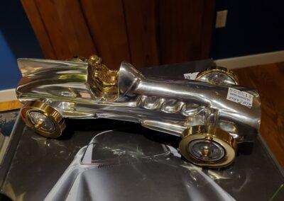 Metal Art Race Car