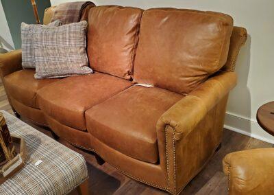 3 Over Three Cushion Leather Sofa