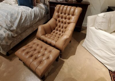 Leather Cradle Chair